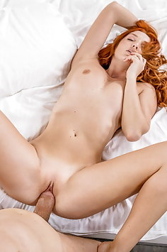 Redhead Red Fox fucks photographer on Ibiza | Vixen - image