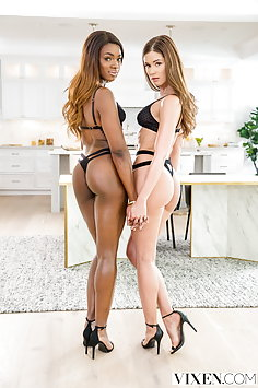 Little Caprice & Ana Foxxx interracial swingers | Vixen - image