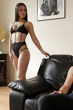 Latina Alina Lopez sensual sex with Bambino | NubileFilms - image