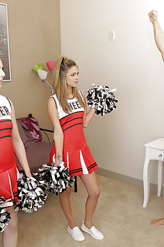Cheerleader Ember Stone watches Athena Faris get fucked by stepbrother | BrattySis - image