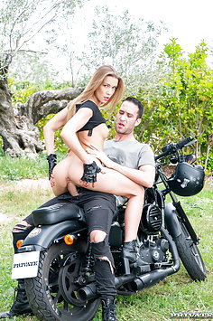Alexis Crystal fucks on motorbike | Private