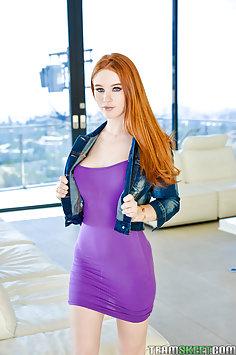 Redhead Scarlett Snow gets creampie from sugar daddy | TeamSkeet: Teen Pies - image