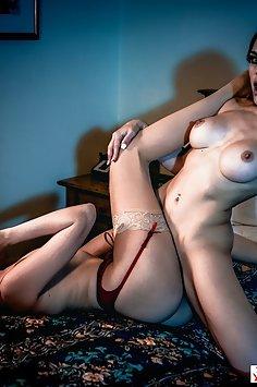 Elena Koshka lesbian sex with Molly Stewart | DigitalPlayground - image