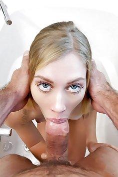 Teen Jenni Jordan gets sticky creampie   Cum4K - image