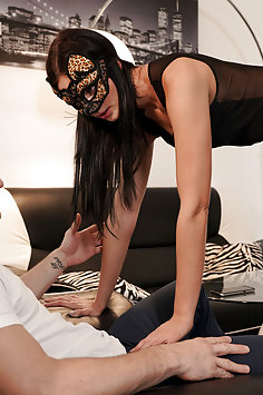 Masked Leanne Lace sensual sex with Max Dior | NubileFilms - image