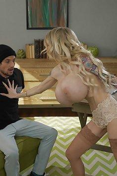 Big tits MILF Danielle Derek titty fucks Tyler Nixon | Brazzers - image