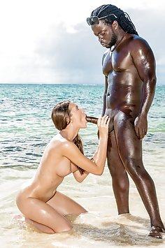 Stacy Cruz interracial beach fuck | Blacked - image