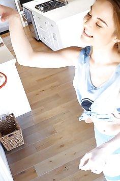Petite basketball teen Megan Marx gets creampies | Cum4K - image
