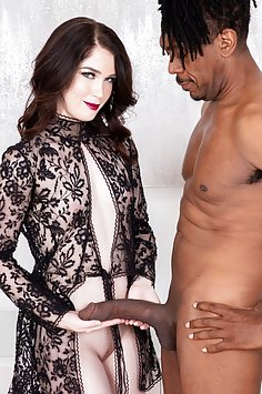 Pale Evelyn Claire interracial fuck with giant black cock | JulesJordan - image