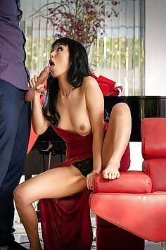 Asian wife Marica Hase fucks in front of cuckold husband | Babes - image
