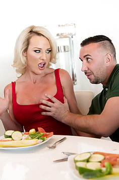 Reverse cuckold with wife watching as Sydney Hail fucks her husband | Brazzers: Milfs Like It Big - image
