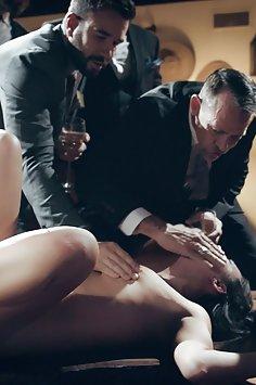 Escort Alina Lopez fucked in front of rowdy businessmen | PureTaboo - image