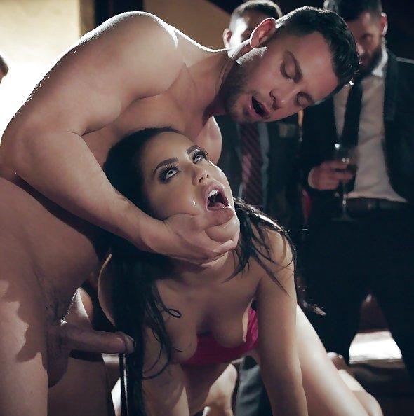 Escort Alina Lopez fucked in front of rowdy businessmen | PureTaboo