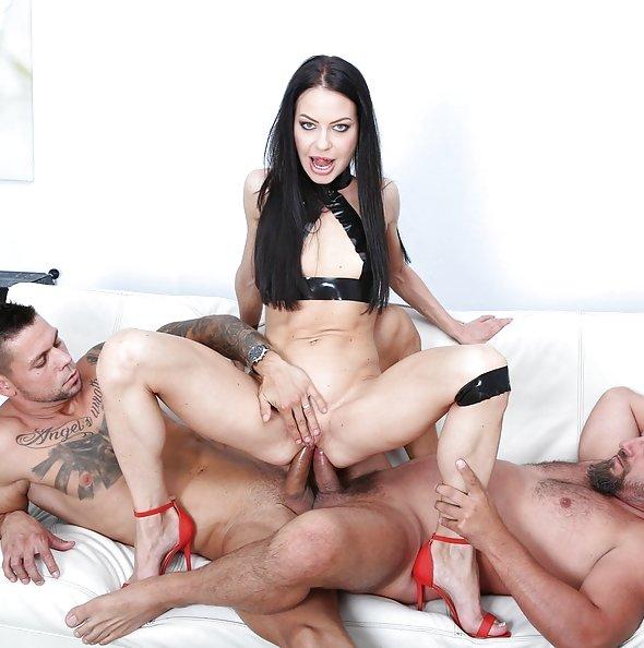 Allatra Hot double anal penetration threeway   LegalPorno