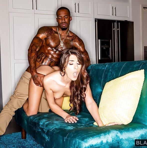 Dana Wolf first interracial sex | BlackedRaw