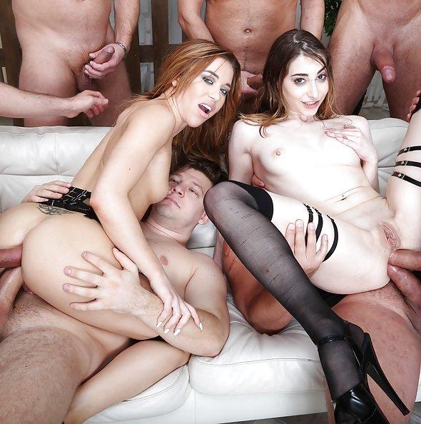 Monika Wild & Lana Bunny double anal orgy | LegalPorno